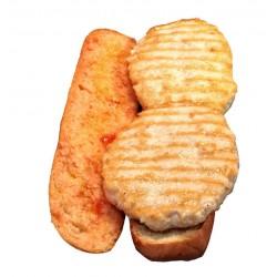 Bocadillo de hamburguesa de pollo y pavo