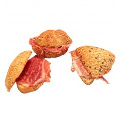 4 minibocadillos o montaditos de jamón ibérico